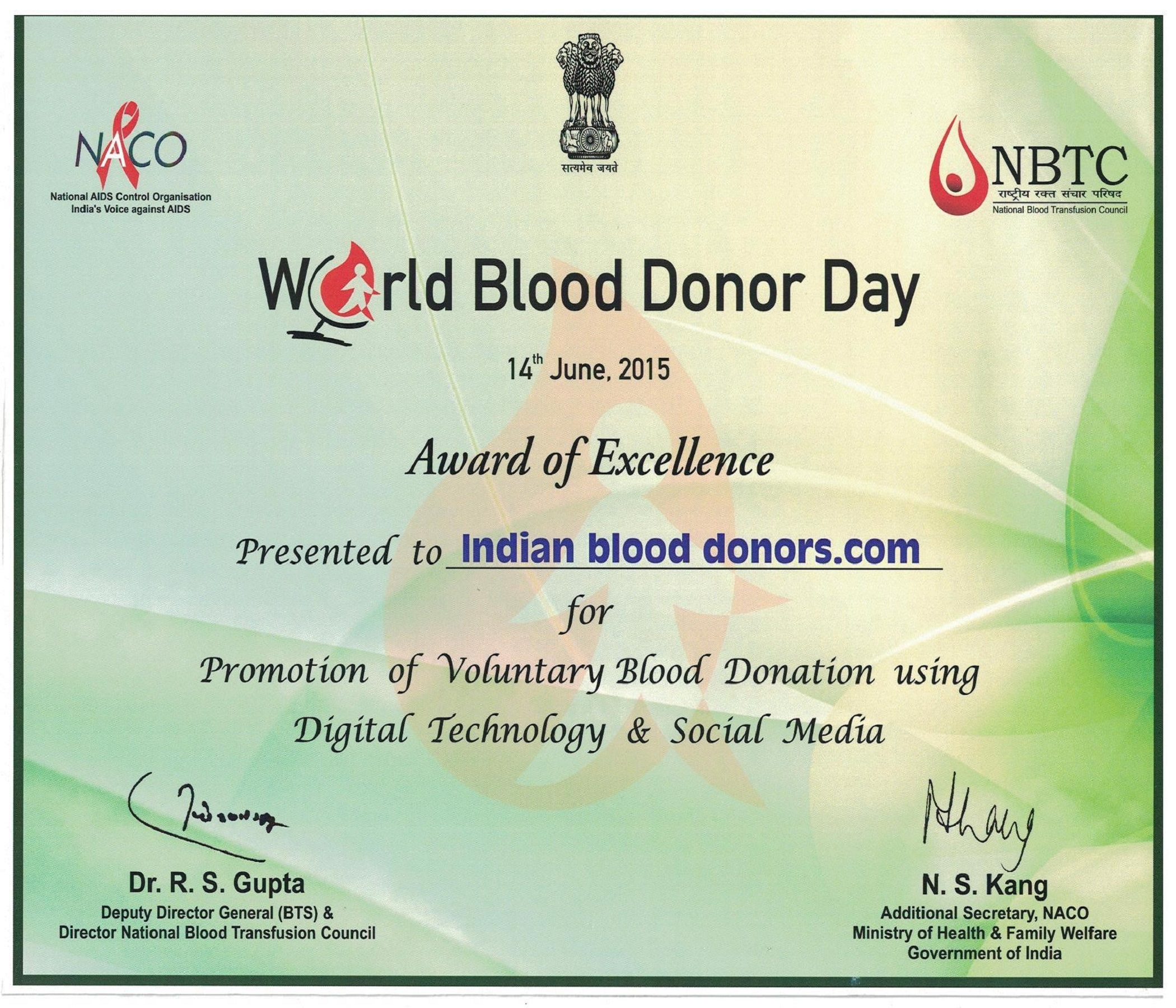 Indian Blood Donors